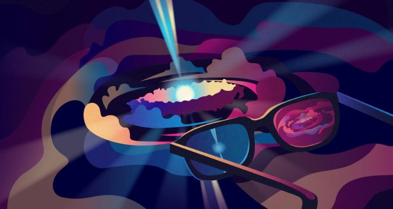 Astrophysicists Wear 3D Glasses Watch Quasars