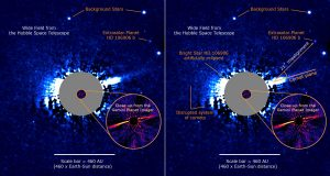 Direct Imaging of an Asymmetric Debris Disk in the HD 106906 Planetary System
