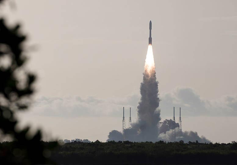 Atlas V Rocket Launches With Mars Perseverance Rover Crop.'