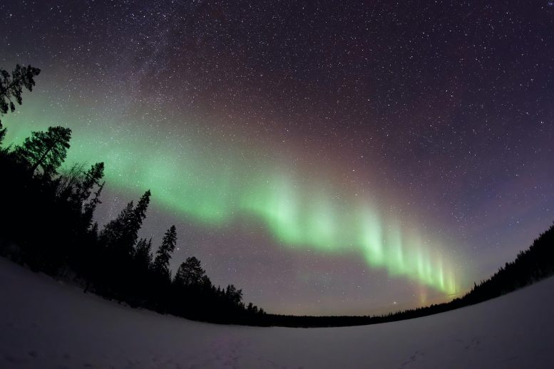Auroral Beads Captured From Earth