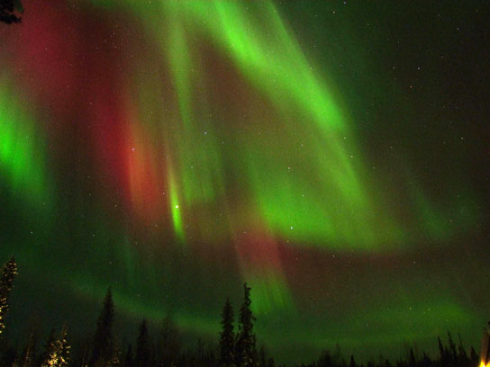 Auroras occur primarily near Earth's poles