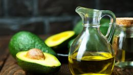 Avocado Oil on Table