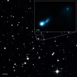 B3 0727+409: Glow from the Big Bang Allows Discovery of Distant Black Hole Jet