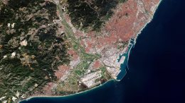 Barcelona Spain From Space