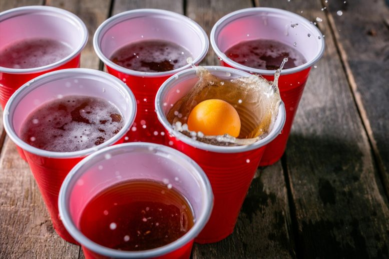 Beer Pong College Drinking