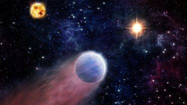 Outbursts From Supermassive Black Hole Transform Exoplanets