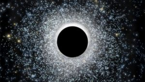 Black Hole is Hiding at the Center of a Giant Star Cluster