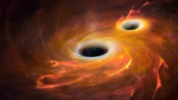 Black Holes Merging Illustration