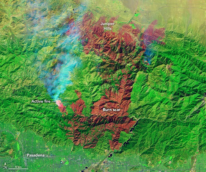 Bobcat Fire Satellite View Annotated