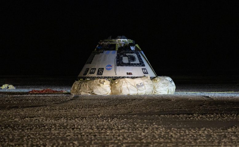 Boeing CST-100 Starliner Spacecraft on Airbags
