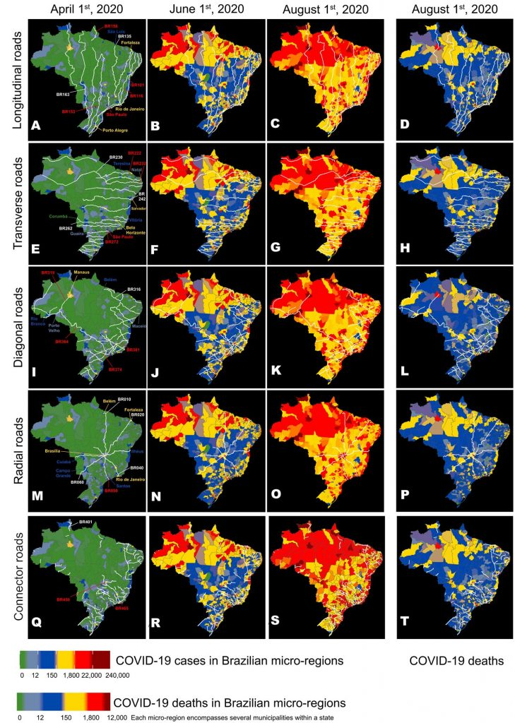 Brazil Evolution of Geographic Distribution of COVID-19