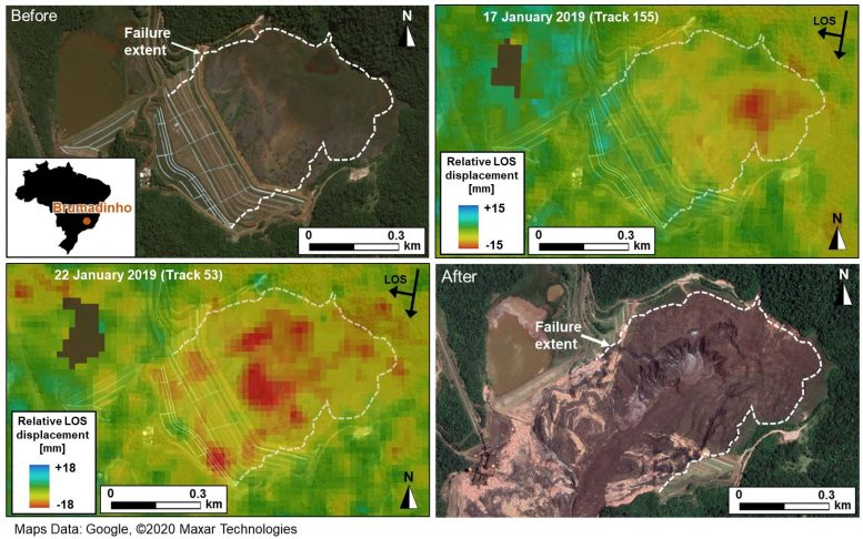 Brumadinho Dam Collapse Before and After