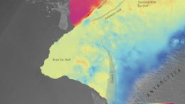 Brunt and Stancomb Wills Ice Shelf Ice Velocity Map