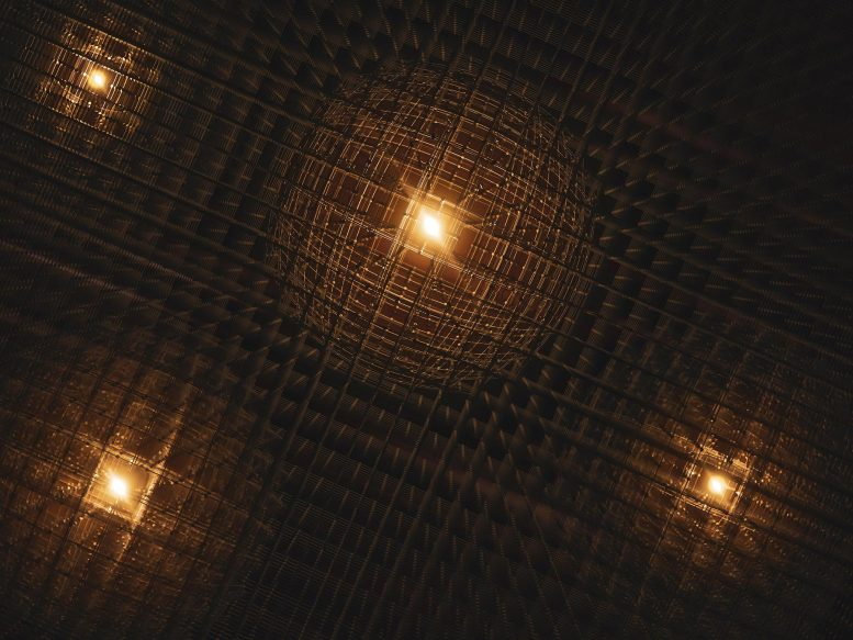 How Bubbles of Distortion Form in an Atomic Lattice