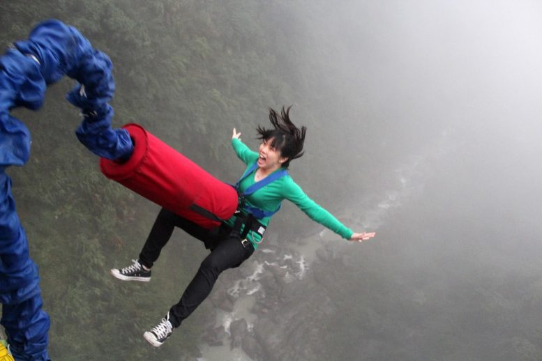 Bungie Jumping Woman
