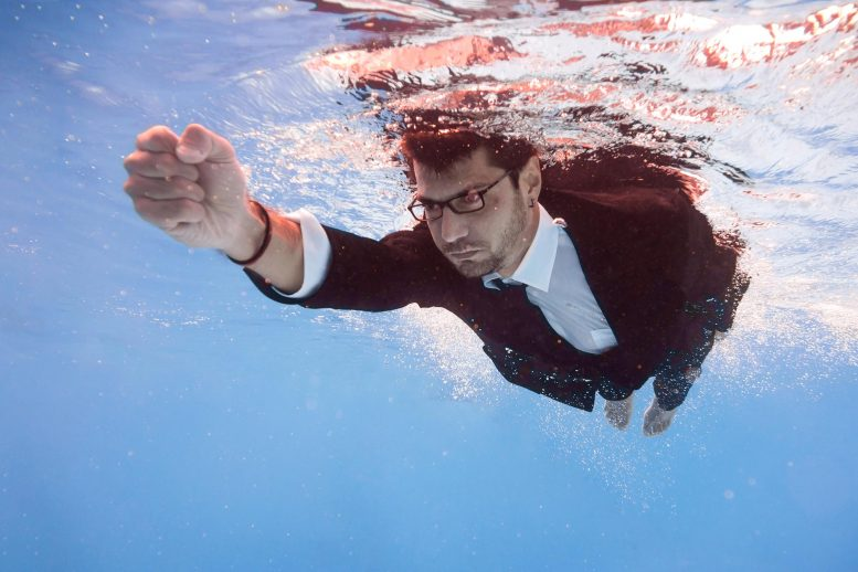 Businessman Underwater