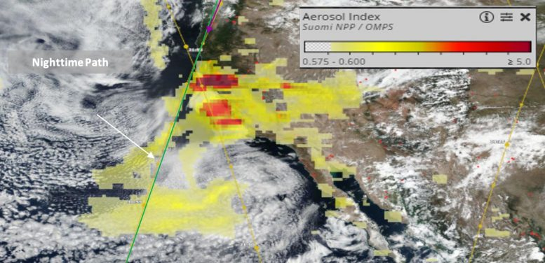 CALIPSO Satellite California WIldfire Smoke