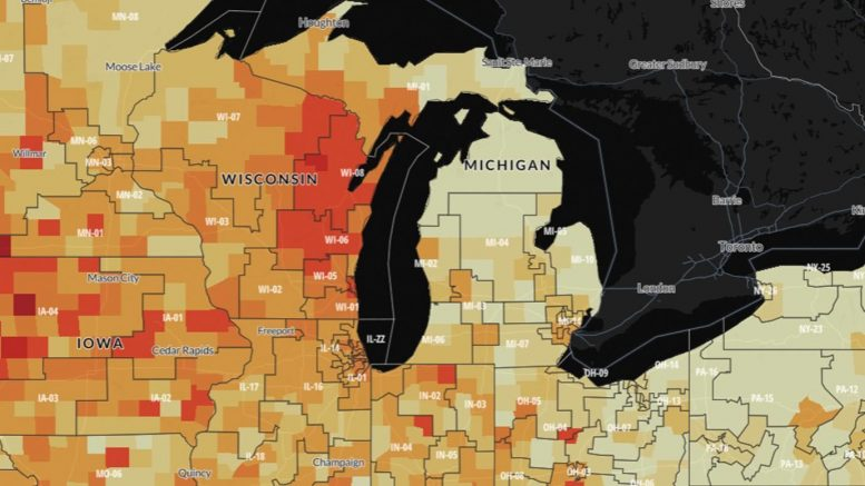 COVID-19 Chicago Heat Map