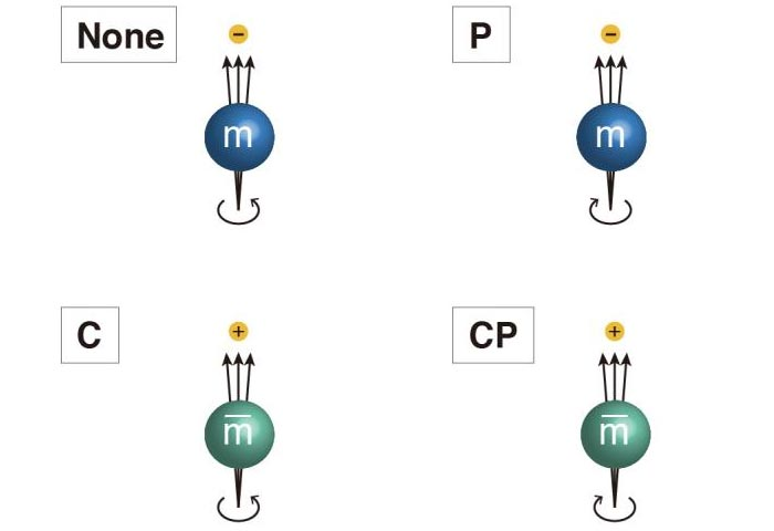 CP Symmetry Operation Meson Particle