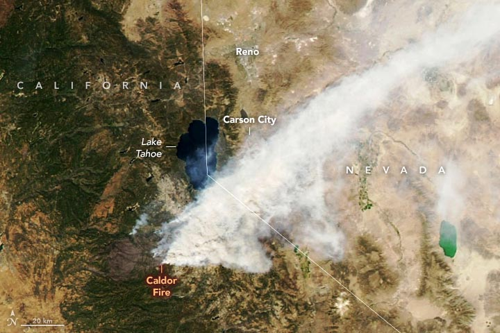 Caldor Fire August 2021 Annotated