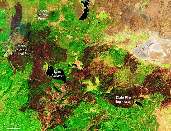 California Wildfire Burn Scars September 2021 Annotated