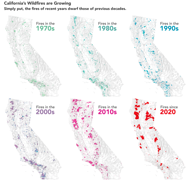 California's Wildfires Are Growing