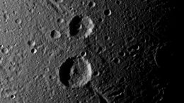 Cassini Captures a Crater Duo on Saturn's Moon Dione
