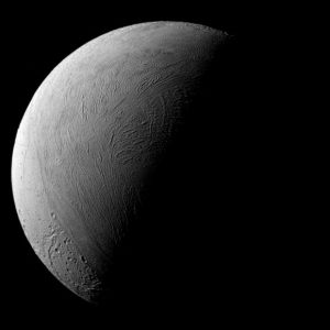 Cassini Captures a Half-Lit View of Enceladus
