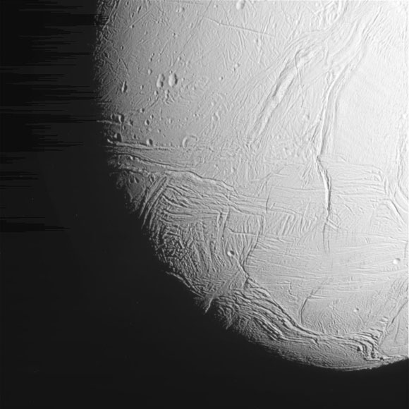Cassini Close Up of Enceladus