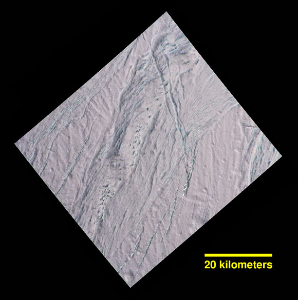Cassini Close-up of Enceladus Dalmatian Terrain