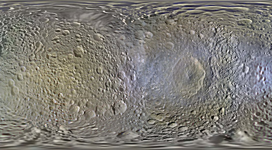 Cassini Creates New Maps of Saturn Moons