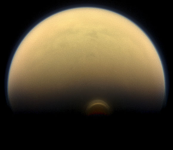 Cassini Finds Monstrous Ice Cloud in Titan's South Polar Region