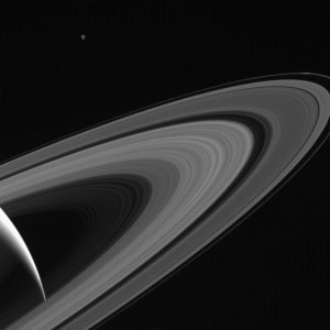 Cassini Image of Saturn and Tethys