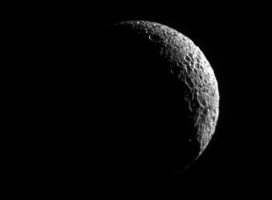 Cassini Image of Saturns Moon Mimas