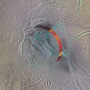 Cassini Image of the South Pole Region of Enceladus