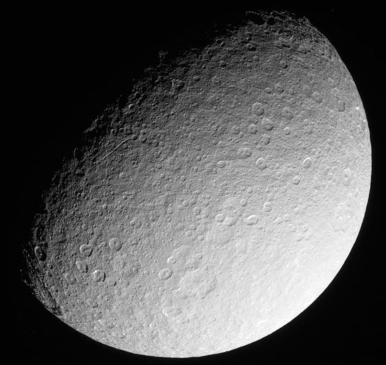 Cassini Images of Rhea