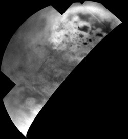 Cassini Images of Ultracold Hydrocarbon Lakes and Seas on Titan