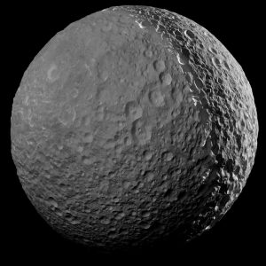 Cassini Made Its Final Close Approach to Mimas