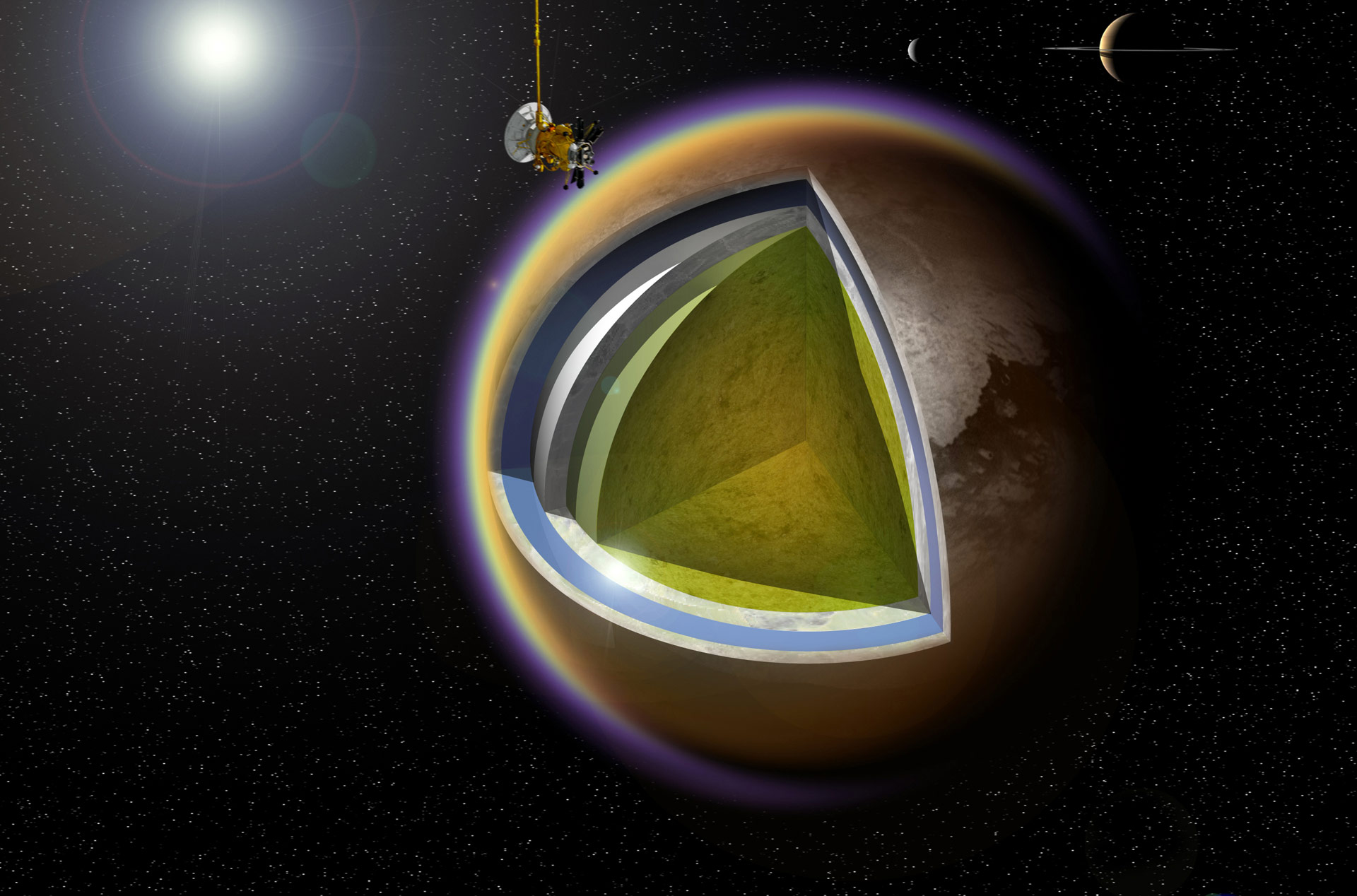 NASA's Cassini to Conduct Its 100th Flyby of the Saturn Moon Titan
