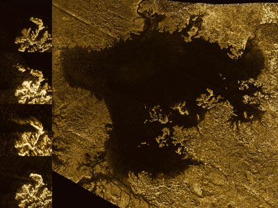Cassini Radar Images of Titan Lakes