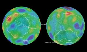 Cassini Spacecraft Finds Saturn Moon May Have Tipped Over