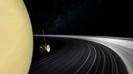 Cassini Spacecraft Saturn Rings