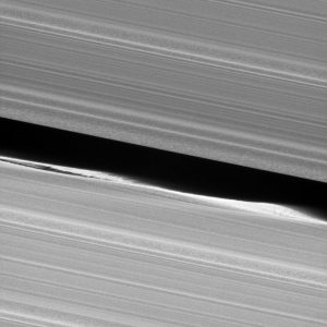 Cassini Spacecraft Views Outer Edge of Saturn's Main Rings