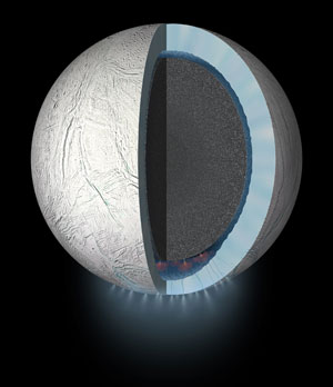 Cassini Spacecraft to Dive Through the Plume of Saturn's Moon Enceladus