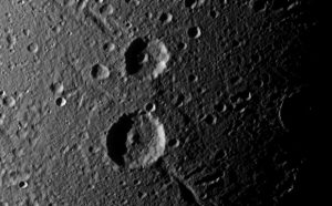 Cassini Views a Crater Duo on Saturn's Moon Dione