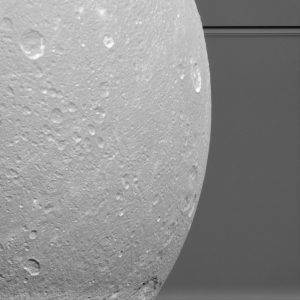 Cassini Views Dione Before the Rings