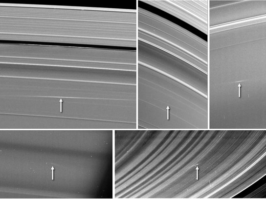 Cassini Views Meteors Colliding With Saturns Rings