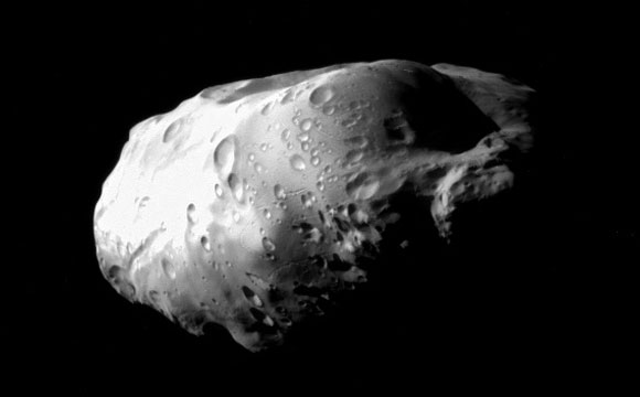 Cassini Spacecraft Views Prometheus Up Close