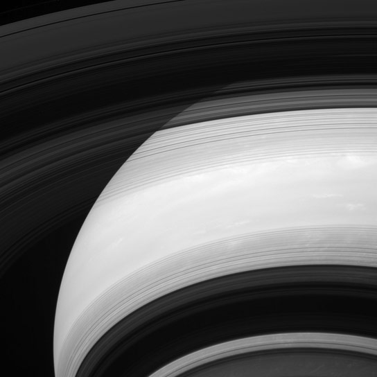 Cassini Views Saturn and the Shadows of Its Rings