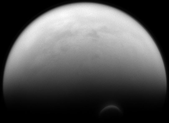 Cassini Views Saturns Moon Titan